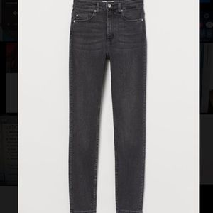 high waist skinny jeans gray washed